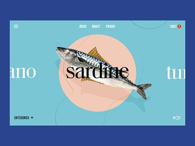 Premium Fish Market - Niche eCommerce app landing uiux clean ui design seafood fish home page ecommerce design website web ux ui