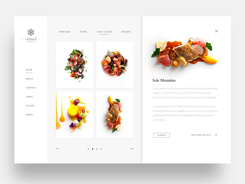 Fine Dining Restaurant Web Ui modern clean mobile website food malaysia design web ux ui