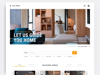 Real Estate Homepage  design mobile app malaysia home landing website web ux ui
