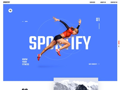 Sportify App Landing Page malaysia sports clean page landing design website web app ux ui