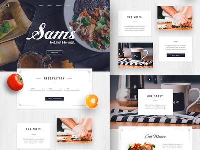 Sam's Restaurant Landing Page