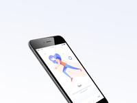 Wellness app onboarding mock