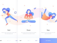 Mindfulness App Onboarding Screens