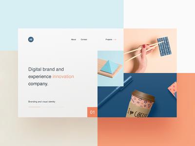 Creative Agency Website agency portfolio colours flat illustration landing header website web ux ui