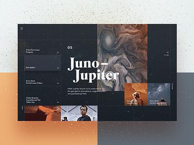 Space News Website clean space minimal colours home page landing header website web ux ui