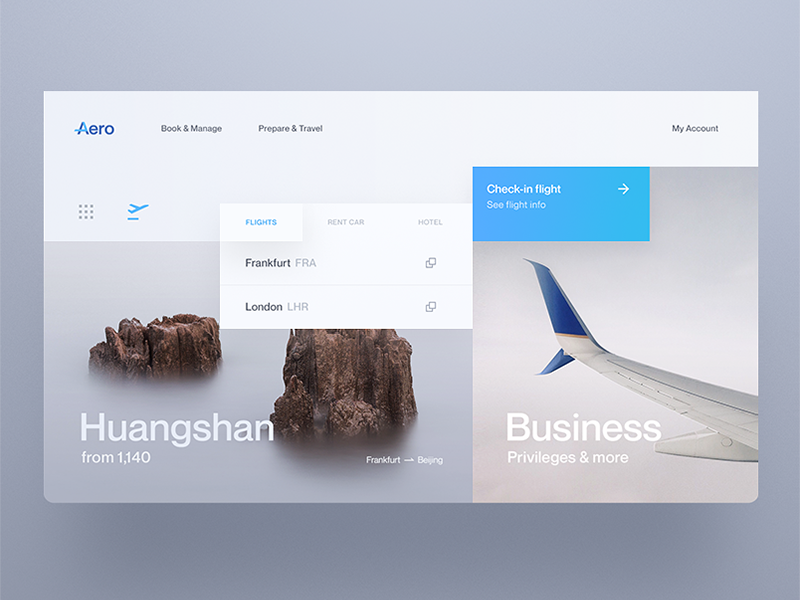 Aero - Flight Booking by Daniel Tan