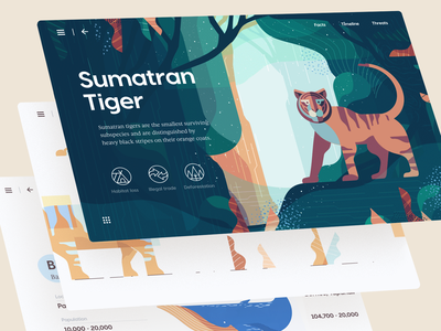 Climate & Animals: Extinction Crisis Microsite interaction illutration web website climate animal parallax page landing home animation ux ui