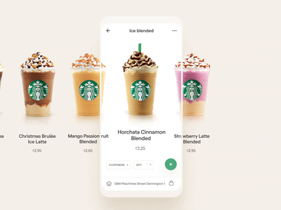 Starbucks App Order UI landing order home web page clean design app website ux ui