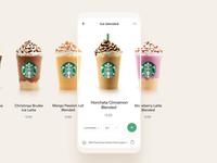 Starbucks App Order UI