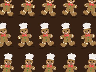 Gingerbread Baker 👨🍳 illustrator pattern illustration gingerbread baker dessert vector gingerbread man vector