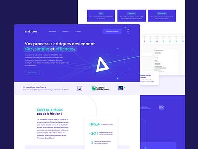 Stratumn Homepage design website home homepagedesign france blockchain homepage uidesign ui stratumn