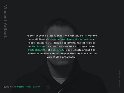 Personal minimalist website webdesign minimalist vincent aribart website personal