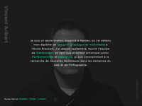 Personal minimalist website