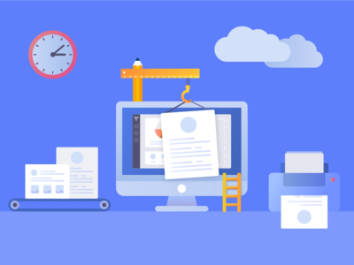 Banner for online CV builder app web resume template portfolio resume online cv banner cv template cv illustration