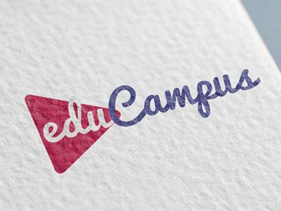 educampus-Logo Concept flat vector branding typogaphy logo