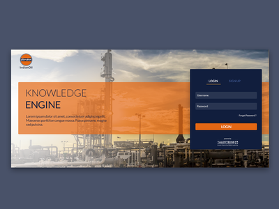 Login Screen Concept - Indian Oil