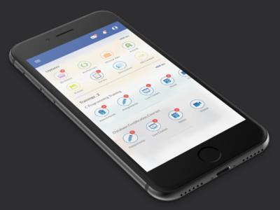 E-learning Mobile App Dashboard UI concept