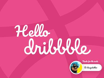 Hello Dribbble invites minimal vector design