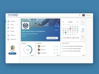 e-learning dashboard UI
