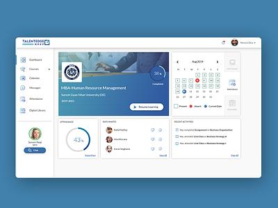 e-learning dashboard UI ui design ux design ui elements minimal flat app ux