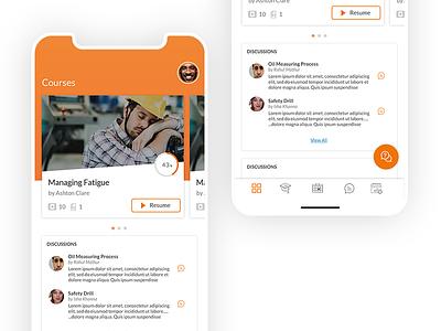 E-Learning Mobile App - UI designer website uidesign ui design typogaphy ux design ui component ui elements minimal flat app ux