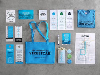 Los Angeles Streetcar streetcar campaign collateral brochure los angeles la downtown dtla event