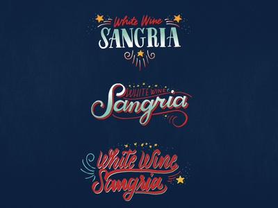 White Wine Sangria melodiepisciotti fireworks stars fourth of july sangria type lettering calligraphy letterform script handwritten typography