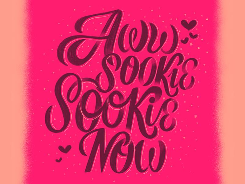 Awww ;-) hearts love sookie cursive lettering handlettering typography script handwritting type calligraphy goodtype