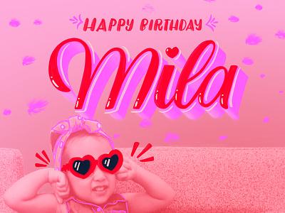 Birthday! heart sassy happy birthday birthday handwritting script typography handlettering lettering