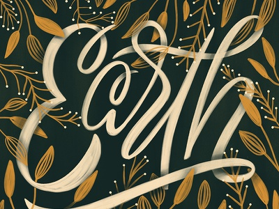 Earth Day! plants flowers earth earth day create lettering handlettering typography script handwritting calligraphy cursive