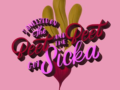 The Beet... beyonce food pun beet homwork cursive calligraphy handwriting script typography handlettering lettering create