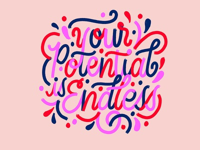Positive Vibes flourishes potential vibes positive cursive calligraphy handwriting script typography handlettering lettering create