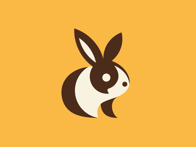 Bunny animal bunny logo design rabbit illustration mark logo icon