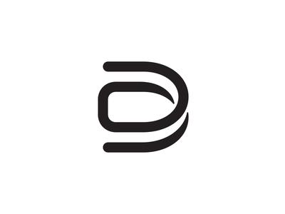 DB logo design monogram mark logo line icon identity emblem black b d