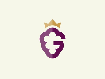 G_Grape wine logo design g grapes grape illustration mark logo identity icon
