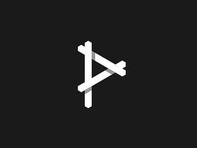 P p line logo identity icon design branding