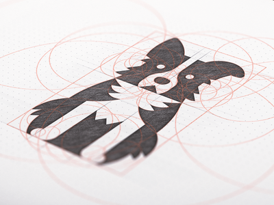 Border Collie Sketch grid sketch blackwhite bordercollie dogs dog negativespace symbol logo identity design brand