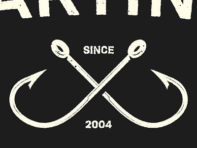 Logo Hooks Detail fishing illustration logo