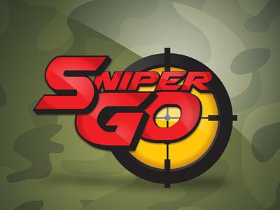 Logo design for Sniper-Go Mobile App photoshop illustrator anime cartoons comic book game app splash screen branding logo design logo mobile app