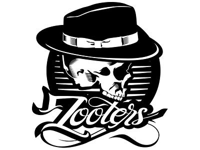 Zooters Logo Design line art illustrator branding logo design pen and ink ink illustration