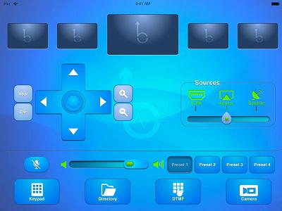 Conference Room Remote Video Screen ux design ui design sketch app ui slider ui controls ui buttons creative suite video conference illustrator product design