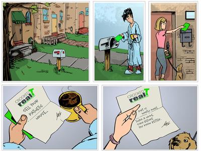 Cartoon Storyboard Illustration