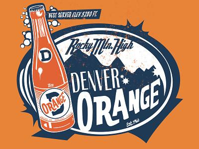 Denver Orange Vintage Tee Design creative suite drawing tshirt art tee art t-shirt design line art illustrator branding logo design pen and ink ink illustration