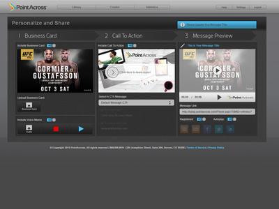 Video Creator Web App web app sketch app ui slider ui controls ui buttons creative suite video creation illustrator product design uxui design