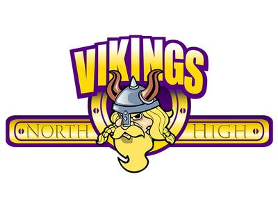 North High Viking Logo logo creation logo design adobe creative suite photoshop coloring character drawing line art illustrator ink illustration