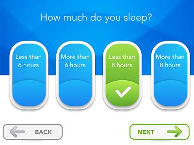 Tablet Questionnaire for Physician's Office mobile device sketch ui design medical ui design ipad ui design mobile design product design ui buttons ux ui design ui design