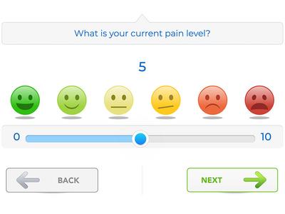 UI Range Slider Pain Scale