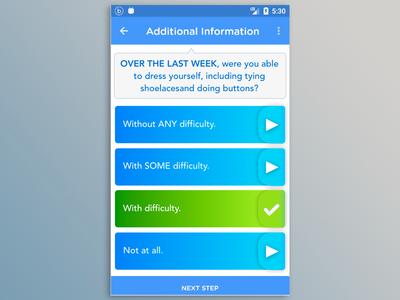 Physician Questionnaire Mobile Ui