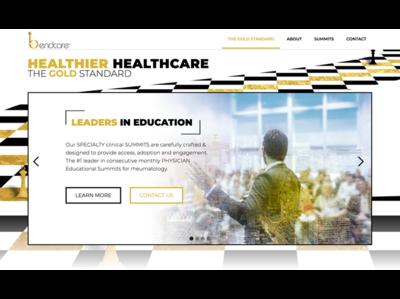 Bendcare home page sliders web templates product design ui corporate branding uxui design design creative suite branding webdesigner