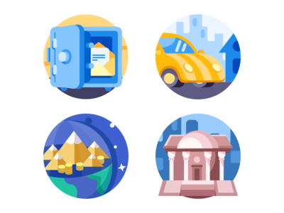 Colorful Icons guarantee loan icons colorful